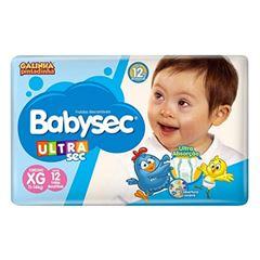 Fralda Babysec Ultra Jumbinho Tamanho XG com 12 Tiras