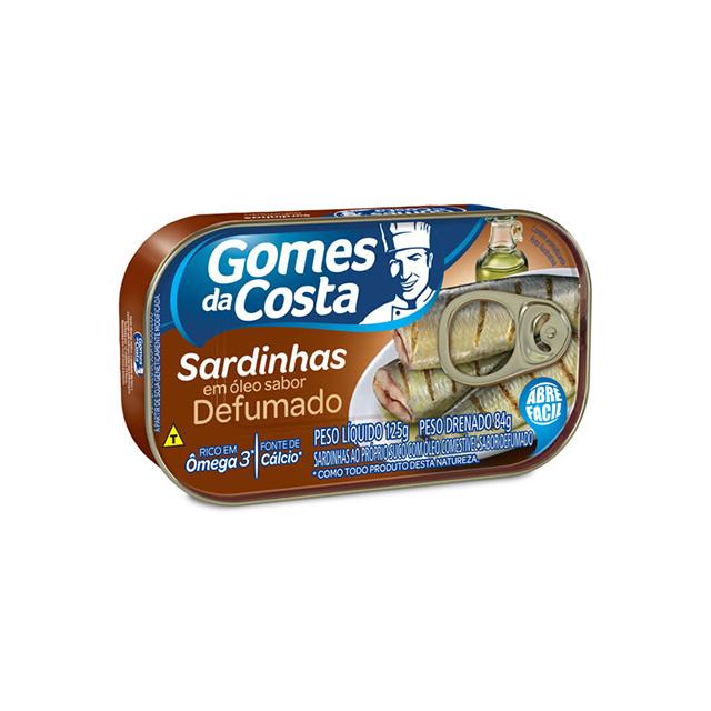 Sardinhas com Óleo Sabor Defumado Gomes da Costa 125g