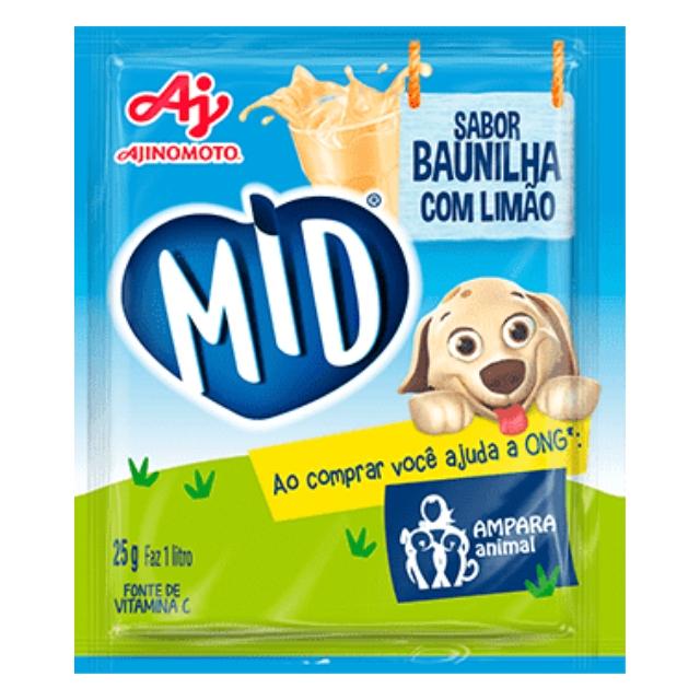 Refresco MID Baunilha c/ Limão 25g