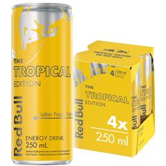 Energético Red Bull - Tropical Edition Pack com 4 Latas de 250ml
