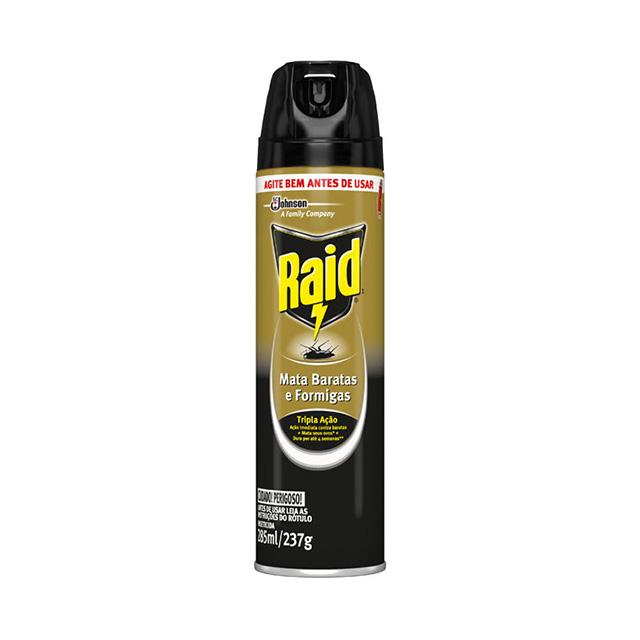 Inseticida Raid Aerossol Mata Barata e Formigas 285ml