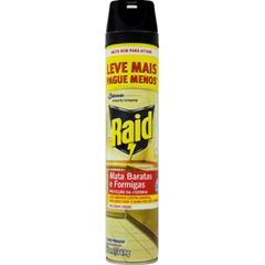 Inseticida Raid Multi-insetos Aerossol Mata Barata e Formiga Leve Mais Pague Menos 420ml