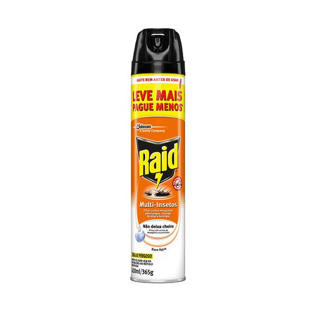 Inseticida Raid Multi-insetos Aerossol Base Água Leve Mais Pague Menos 420ml