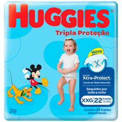 Fralda Huggies Tripla Proteção Jumbo Tamanho XXG com 22 Tiras