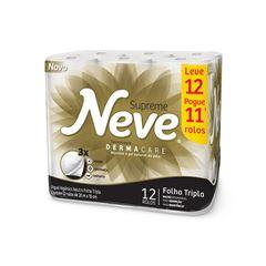 Papel Higiênico Neve Neutro Supreme Folha  Tripla 20m Leve 12 Pague 11
