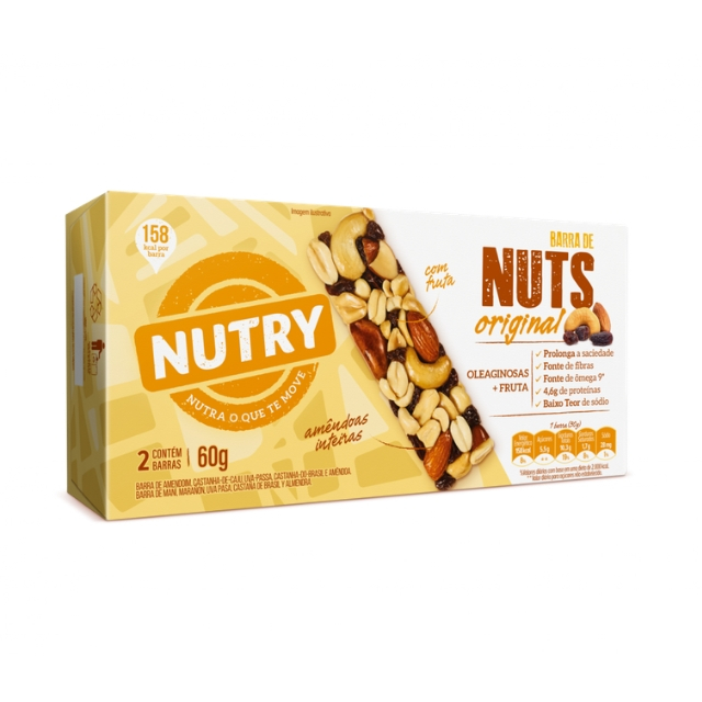 Barra Nuts Nutry Original 30g com 2 und