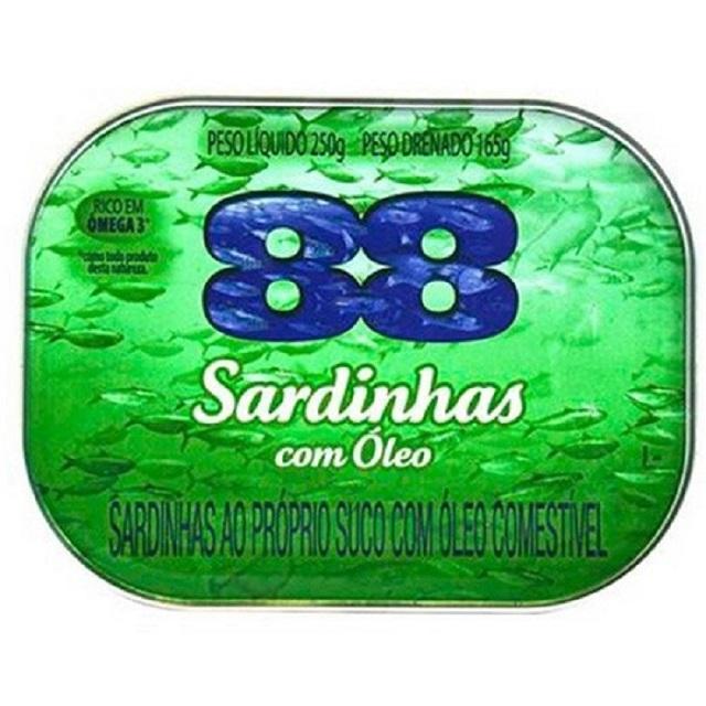 Sardinha 88 com Óleo 250g