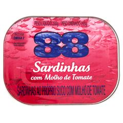Sardinha 88 ao Molho de Tomate 250g