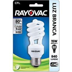 Lampada Rayovac CFL 15 watts x 220 volts Espiral Branca