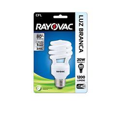 Lampada Rayovac CFL 20 watts x 220 volts Espiral Branca