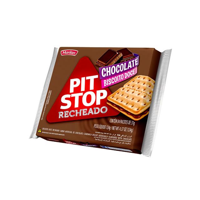 Biscoito Marilan Pit Stop Recheado Chocolate 124g