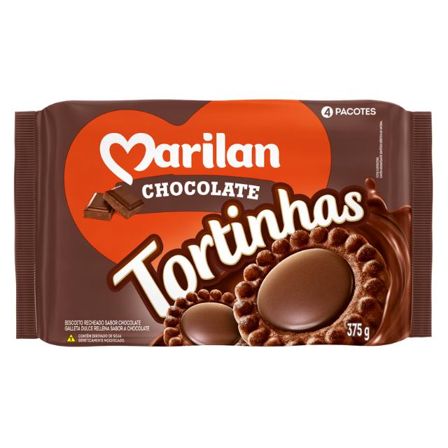 Biscoito Marilan Tortinha Chocolate 375g