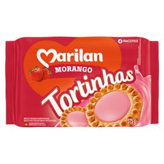 Biscoito Marilan Tortinha Morango 375g