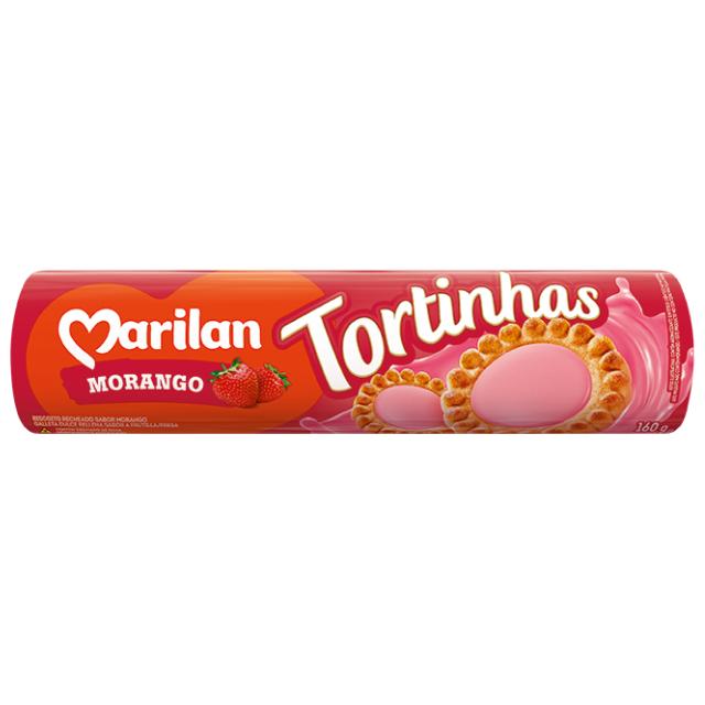 Biscoito Marilan Tortinha Morango 160g
