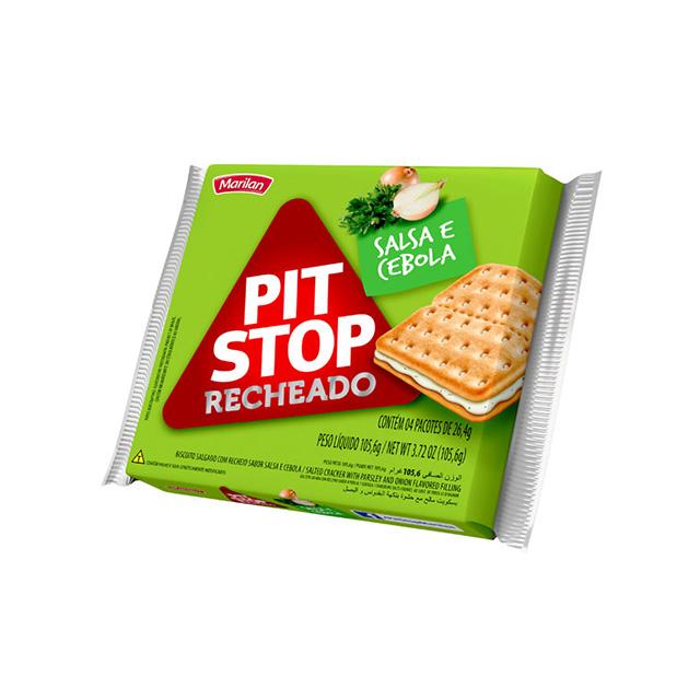 Biscoito Marilan Pit Stop Recheado Cebola e Salsa 105,6g