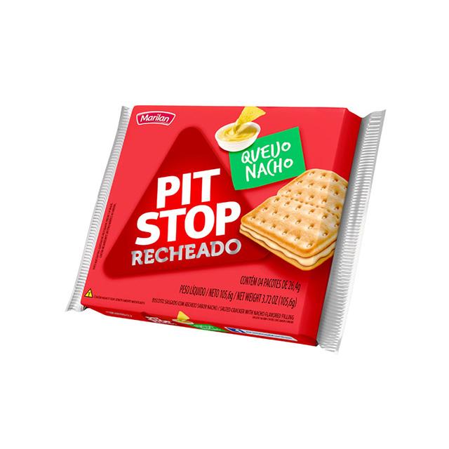 Biscoito Marilan Pit Stop Recheado Queijo e Nacho 105,6g