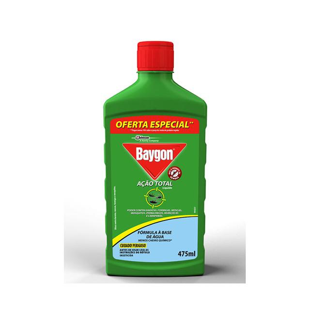 Inseticida Baygon Ação Total Liquido a Base de Agua 475ml Oferta Especial
