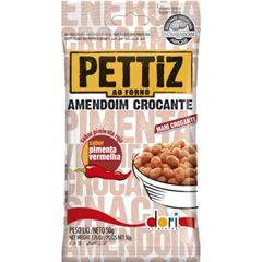 Amendoim Salgado Pettiz Pimenta Vermelha Crocante 50g