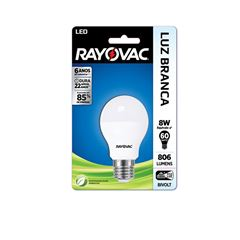 Lampada Rayovac Led 8 watts Bivolt A55 Branca