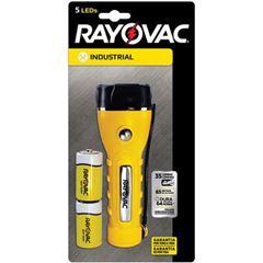 Lanterna Rayovac Total Amarela 5 Leds + 2 Pilhas Zinco