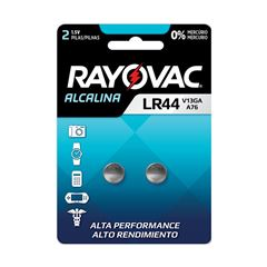 Pilha Alcalina  Rayovac LR44 Cartela com 2 und
