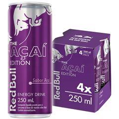 Energético Red Bull - Açai Edition Pack com 4 Latas de 250ml