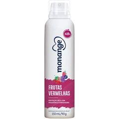 Desodorante Aerossol Monange Antitranspirante Frutas Vermelhas 90g