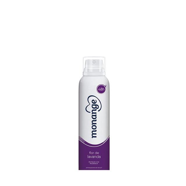 Desodorante Aerossol Monange Antitranspirante Flor de Lavanda 90g