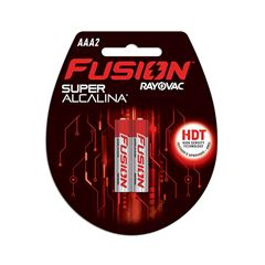 Pilha Super Alcalina Fusion Rayovac Tamanho AAA Cartela com 2 und