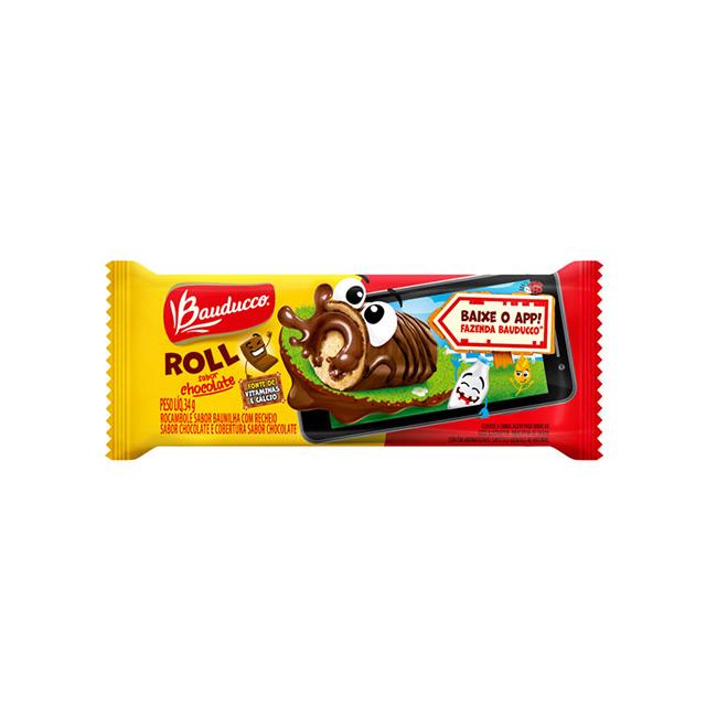 Bolinho Bauducco Roll Chocolate 34g