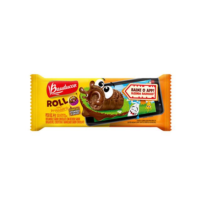 Bolinho Bauducco Roll Brigadeiro 34g