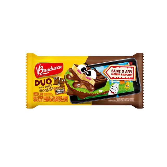 Bolinho Bauducco Duo Duplo Chocolate 34g