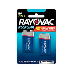 Bateria Alcalina 9v Rayovac Leve 2 Ganhe 50% na Segunda Unidade