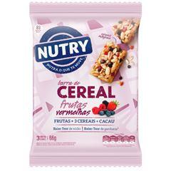Barra de Cereal Nutry Morango com Chocolate 22g com 3 und