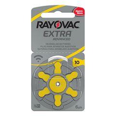 Pilha Rayovac Para Aparelho Auditivo Extra Advanced Tamanho 10 Cartela com 6