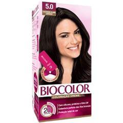 Tintura/Coloração Biocolor 5.0 Castanho Claro Luxo Mini