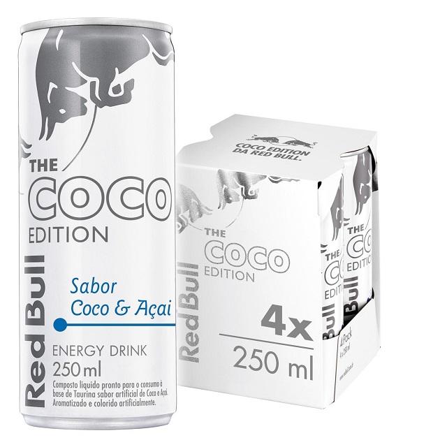 Energético Red Bull - Coco Edition Pack com 4 latas de 250ml