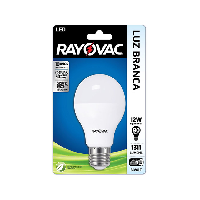 Lampada Rayovac Led 13 watts Bivolt Branca