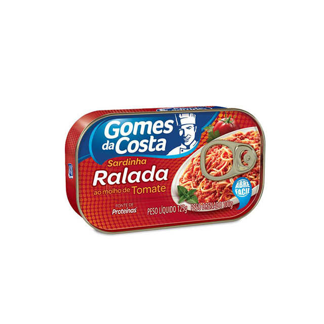 Sardinha Ralada em Molho de Tomate Gomes da Costa 125g
