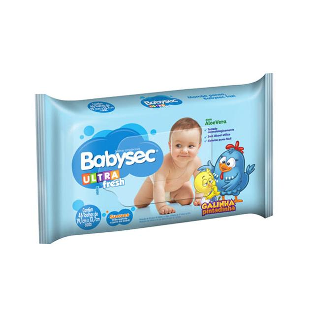 Toalha Umedecida Babysec Galinha Pintadinha 50 und