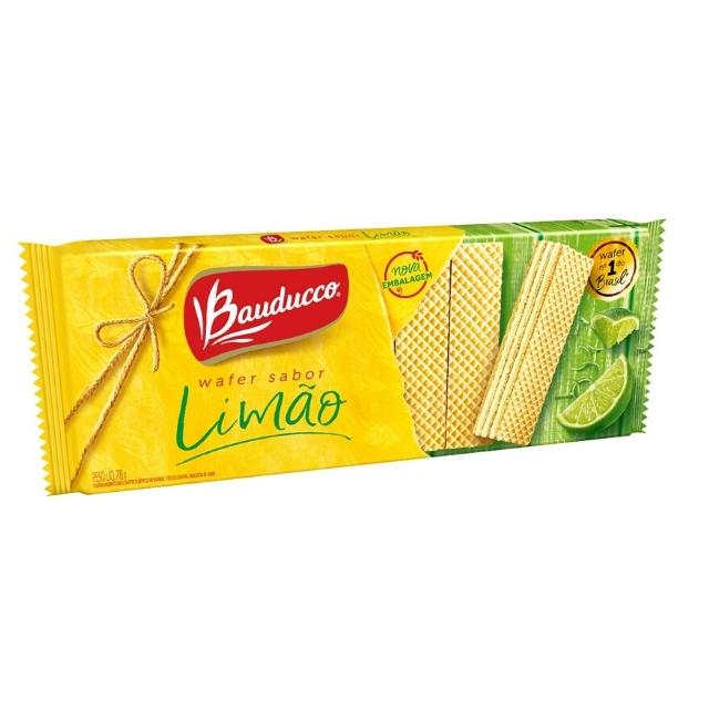 Wafer Bauducco Limão 78g