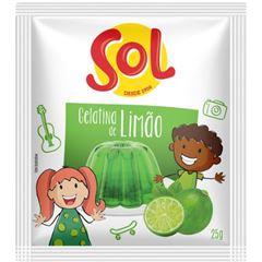 Gelatina Sol Limão 25g