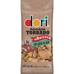 Amendoim Salgado Dori Torrado de Boteco Lascas de Alho 40g