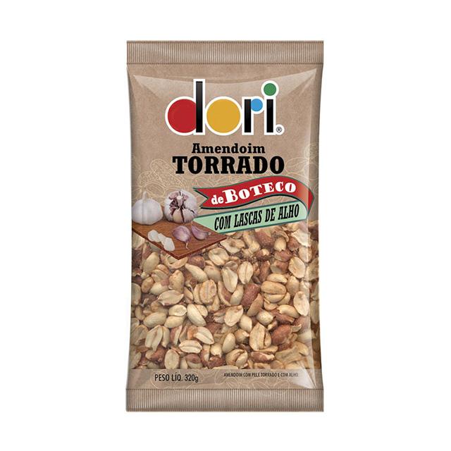Amendoim Salgado Dori Torrado de Boteco Lascas de Alho 320g