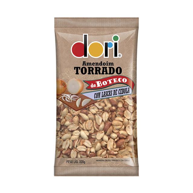 Amendoim Salgado Dori Torrado de Boteco Lascas de Cebola 320g