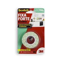 Fita Adesiva Fixa Forte para Cozinha Scotch 3M 24mmx1,5m