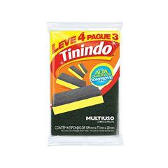 Esponja Multiuso Tinindo Limpeza Pesada Leve 3 Pague 2 unidades