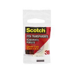 Fita Adesiva Transparente Scotch 3M 12mmx30m