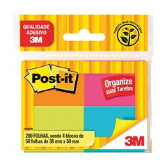 Bloco Post-it 653 3M Tropical 50 Folhas 4BL 38x50mm