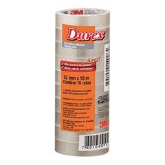 Fita Adesiva Durex Transparente 3M 12mmx10m com 10 unidades